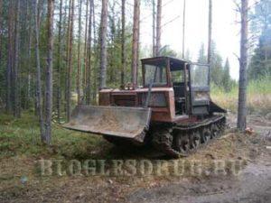 работа в лесу трактористом