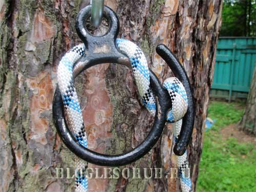 веревка, намотанная за «рог» фото