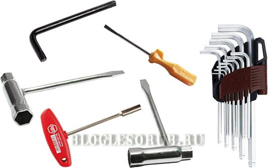 Инструменты-для-ремонта-бензопил фото