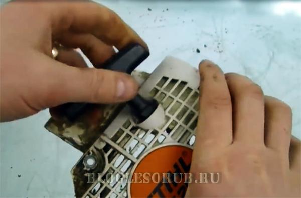 проверяем натяжение шнура после витков фото