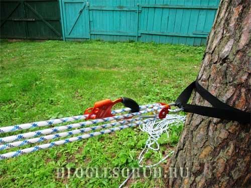 Направленная оттяжка деревьев
