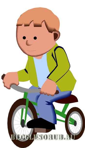 ребенок на велосипеде картинки