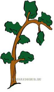Наклоненное-дерево картинки