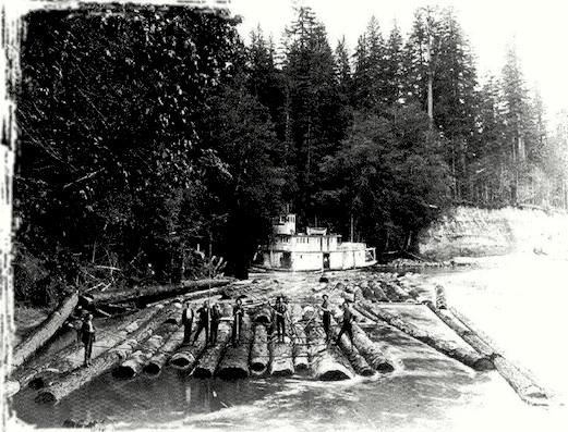 буксир с лесом в Вашингтоне картинки