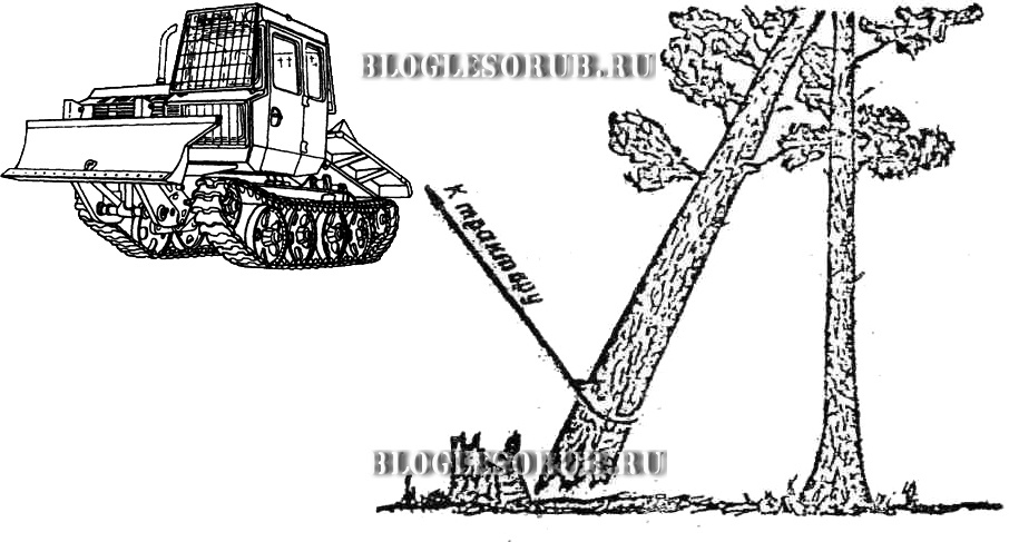 зависшее дерево трактором картинки